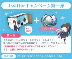 リツイートキャンペーンのプレゼント詳細
