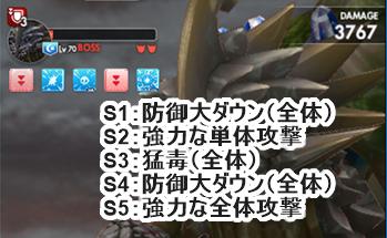 巨夜獣 巨岩亀編3のボススキル
