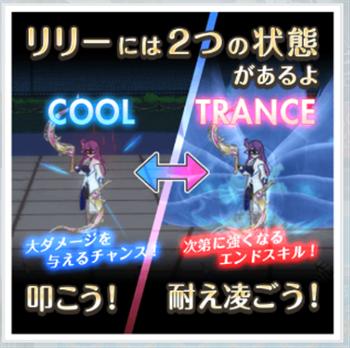 2つの状態「クール」と「トランス」