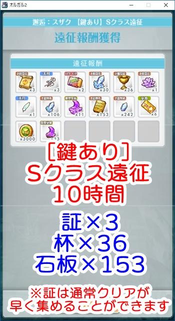 【EXTREME】[アーミーガール]恋(スザク) 鍵ありSクラス遠征10時間のドロップアイテム数 ※鍵ありS敵を1体残した場合)