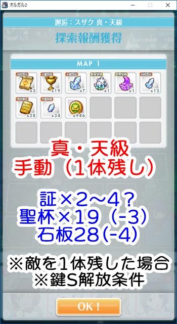 【EXTREME】[アーミーガール]恋(スザク) 真天級'(手動)のドロップアイテム数 ※敵を1体残した場合