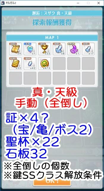 【EXTREME】[アーミーガール]恋(スザク) 真・天級(手動)のドロップアイテム数 ※すべての敵を倒した場合)